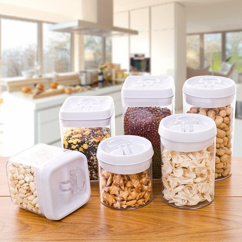 Transparent plastic food containers seal pot Milk