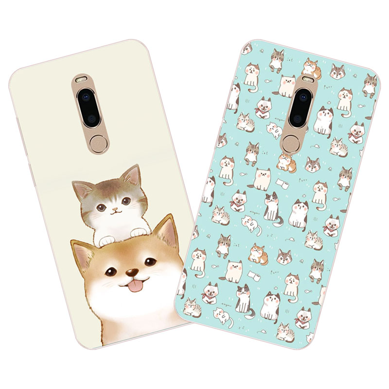 meizu m6t Case,Silicon Cute cat cartoon Painting Soft TPU Back Cover for meizu m6t protect cases shell