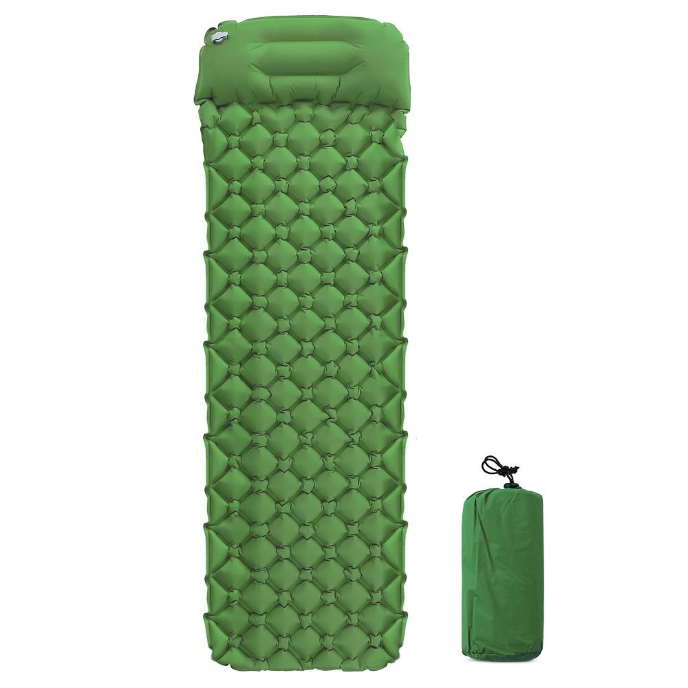 Image 4 - Inflatable Beach Mat Air Mattress Picnic Mattress With Pillow Sleeping Bag Cushion Air Sofas Inflatable Sleeping Pad Camping Mat-in Camping Mat from Sports & Entertainment