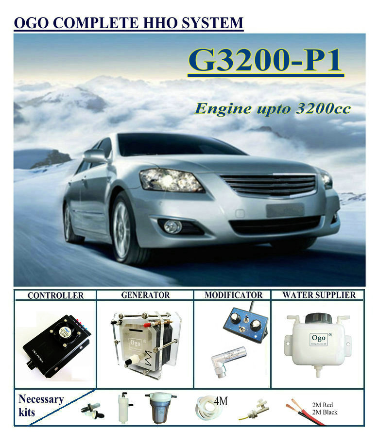 OGO Complete HHO system P1 PWM CE FCC MAF MAP upto Engine 3200CC