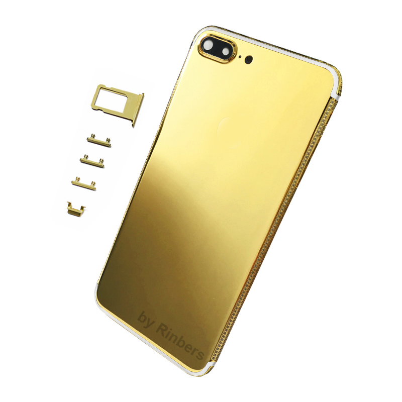 For font b iPhone b font 7 Plus 24K 24KT 24CT GOLD ROSE GOLD PLATINUM Diamond