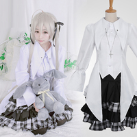 Anime sora cosplay Costumes for adults Ladies lolita Costume girls Plaid skirt suits