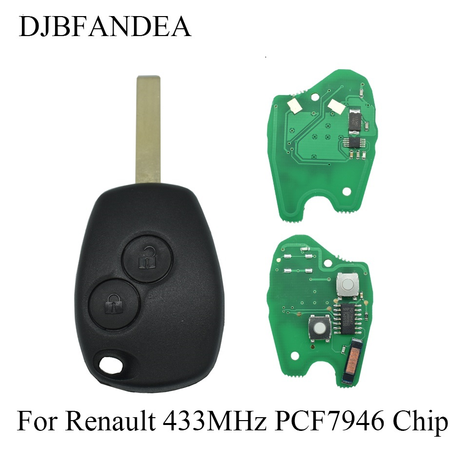 DJBFANDEA 3PCS LOT Remote Keyless Entry Fob For Renault Duster Modus Clio 3 Twingo DACIA Logan