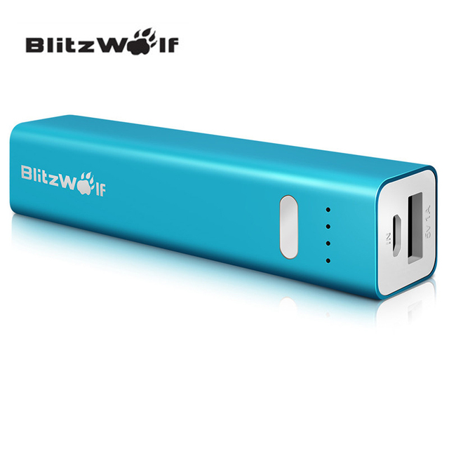 BlitzWolf 3350mAh Mini Portable Mobile Phone Power Bank Micro USB Charger For Apple For iphone 6/6s For Samsung S7 S6 note 5