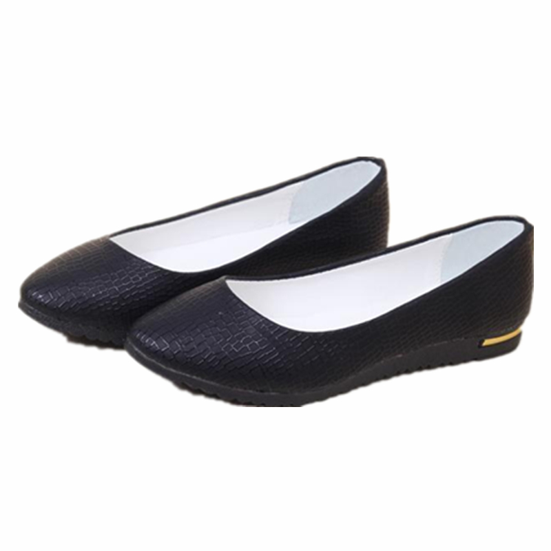 fashion 2016 women shoes slip on womens flats shoes loafers faux leather womens ballerina flats. Black Bedroom Furniture Sets. Home Design Ideas