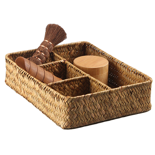 Kreative Seegras Tissue Box Rattan Aufbewahrungsbox Für Kosmetik Tee Korb  Organizer Serviettenhalter Für Home Storage Handwerk