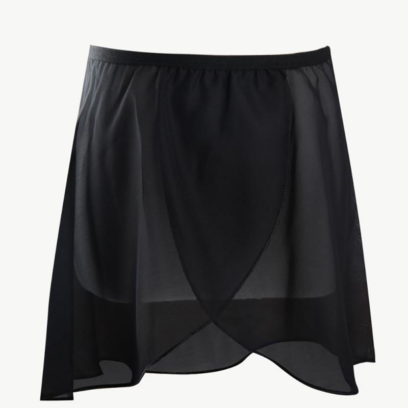 Girls' Dance Basic Classics Chiffon Collection Wrap Skirt Short Skirt Girls Chiffon Rubber Band Half-length Skirt