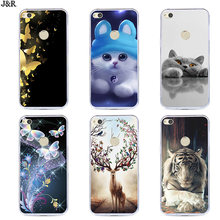 "Silicone Case For Huawei Honor 8 Lite Cover 5.2""For Huawei Ascend P8 Lite 2017 Soft TPU Phone Bags Shell P9 Lite 2017(China)"