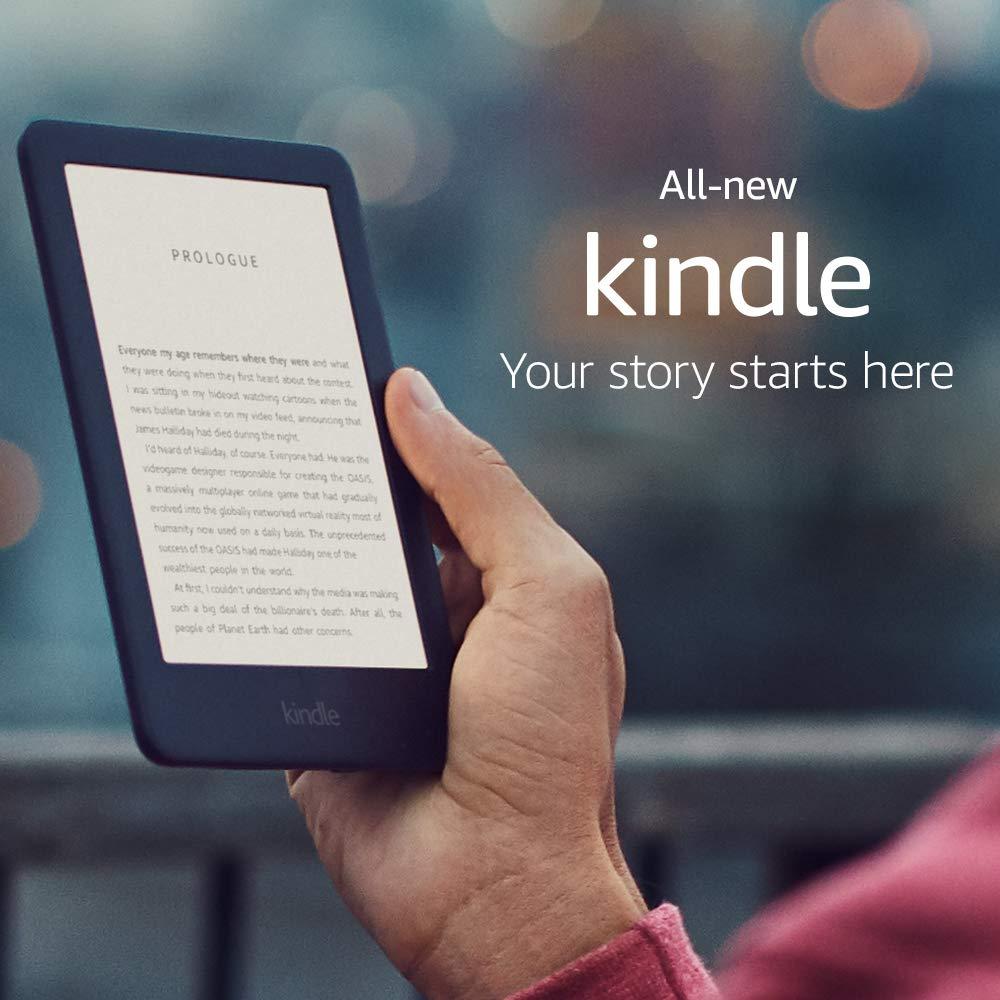 All-new Kindle Preto 2019 versão, Agora com um Construído em Luz Da Frente, 4 GB eBook e-tela de tinta Wi-Fi 6-polegada Leitores de e-Book