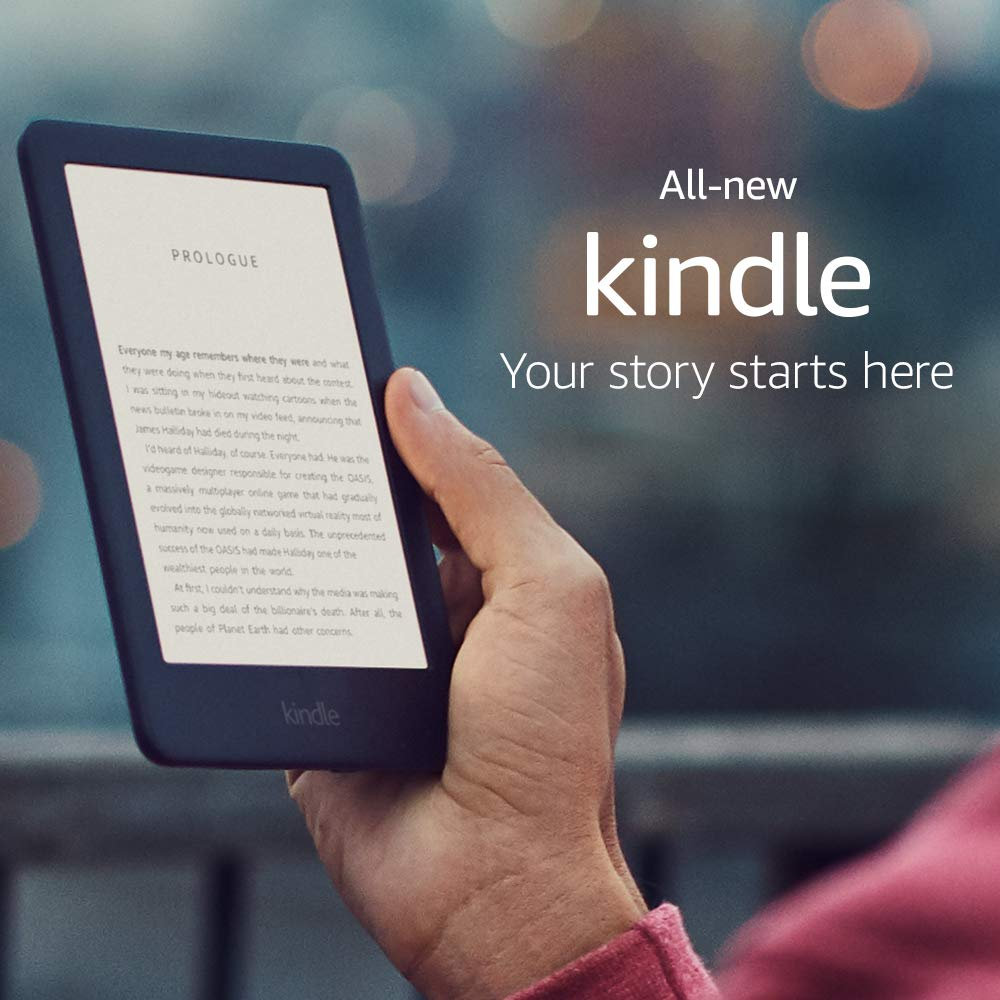 Toute nouvelle version Kindle Black 2019, maintenant avec une lumière frontale intégrée, Wi-Fi 4GB eBook e-ink écran 6 pouces lecteurs de livres électroniques