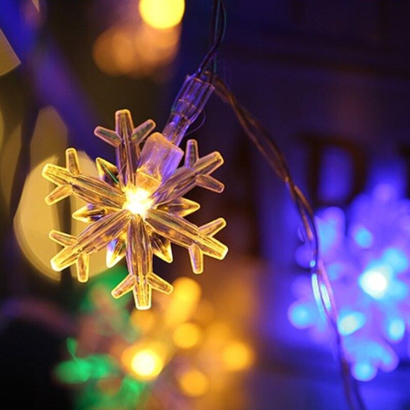 Christmas Led Lights.Christmas Decorations 5m Natal Christmas Led String Lights Decorative Navidad Garland Snow Lights Christmas Tree Decorations
