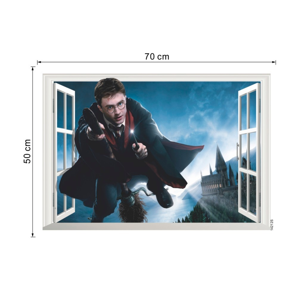 harry potter poster 3d window decor hogwarts decorative wall