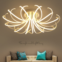 Living Room Bedroom Modern Led Ceiling Lights White Color Aluminum Avize AC85 265V Lamparas De Techo