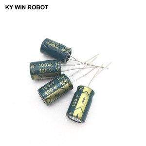 Image 3 - 10 pièces En Aluminium électrolytique condensateur 100 uF 100 V 10*17mm frekuensi tinggi Électrolytique Radial kapasitor