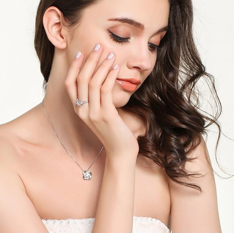 Dieerlan 2019 New Wedding Bridal Jewelry Sets 925 Sterling Silver Zirconia Earrings Choker Necklaces For Women Statement Jewelry #4