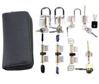 Hot Sale Free Shipping Locksmith Pick Supply 9pcs Transparent Lock For Beginner And Locksmith Practice Best