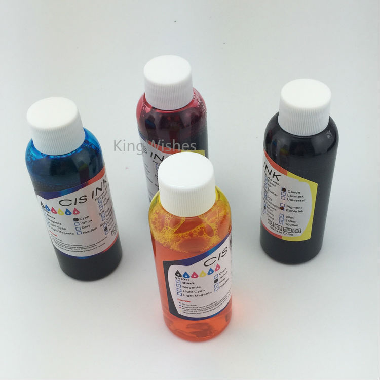ФОТО 100ML x 4PCS T7011 T7012 T7013 T7014 Edible Ink For Epson WP-4025 WP-4015 WP-4515 WP-4525 WP-4535 WP-4545 WP-4595 Printer