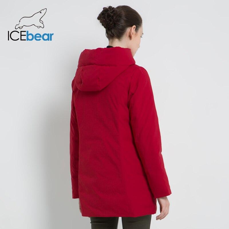 Icebear 2019 novo inverno com capuz jaqueta feminina casaco de moda feminina quente inverno parkas roupas mais tamanho gwd19078i - 4