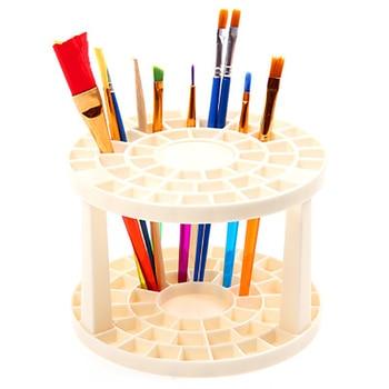 1Pcs Paint Brush Pen 49 Holes Pen Rack Display Stand Support Holder Watercolor Painting Brush Pen Holder Art Supplies sketchbook