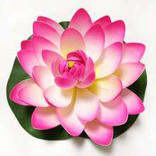 Fish Tank Floating Lotus Artificial Flower Pond  Plant Ornament Aquarium Home Garden Decoration 1pcs 10cm