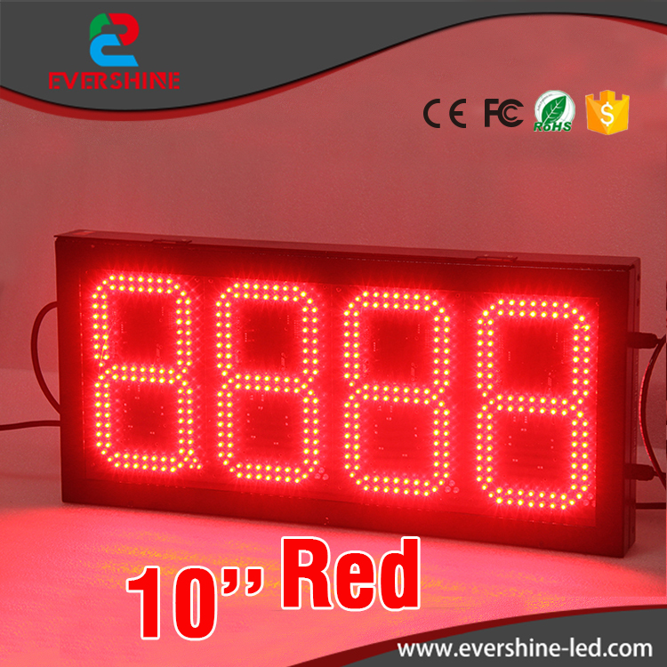 led gas station price board Oil station floor standing LED digital price screen 10'' red color HD display p6 fullcolor rental advertisingwifi led display floor standing digital signage