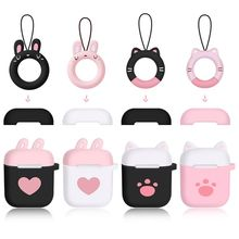 Cute Cat Claw Lovely Heart Soft Silicone Shockproof Cover Protective Case Skin Shell For AirPods Earphone