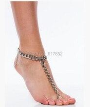 Бесплатная доставка Новый стиль L62 женская мода серебро цепочки лодыжки цепочки ювелирные изделия 3 цветов