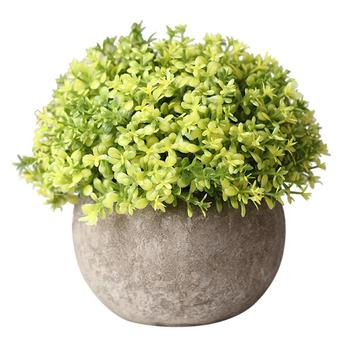 Artificial Plastic Potted Green Plant Artificial Plants Bathroom Bedroom Departments Dining Room Entryway Living Room Outdoor Rooms