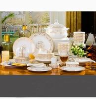 Набор посуды Керамическая Чаша плиты wankuai сочетание 56 Домашняя Цзиндэчжэнь костяного набор посуды из фарфора