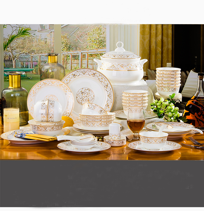 platos de cermica set tazn placa wankuai combinacin hogares hueso jingdezhen juego de vajilla de