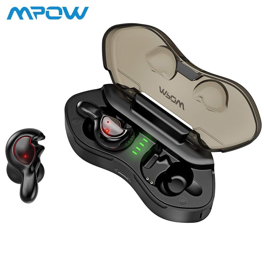 Multifonctionnel Mpow T7 True TWS écouteurs Bluetooth 5.0 sans fil écouteurs IPX5 étanche écouteurs pour Android/Windows/iOS nouveau