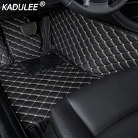 KADULEE car floor Foot mat For peugeot 308 206 508 5008 301 2008 307 207 3008 2008 408 waterproof car accessories styling custom
