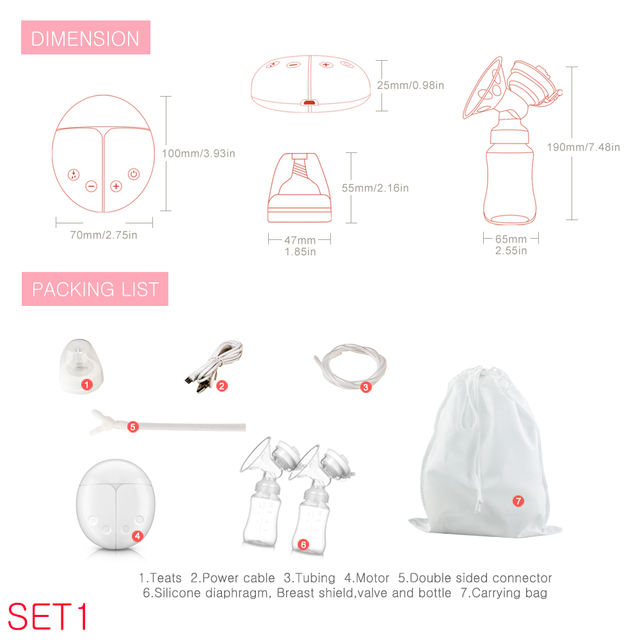 Unilateral and bilateral electric manual breast pump silicone silicone breastfeeding accessories for babies