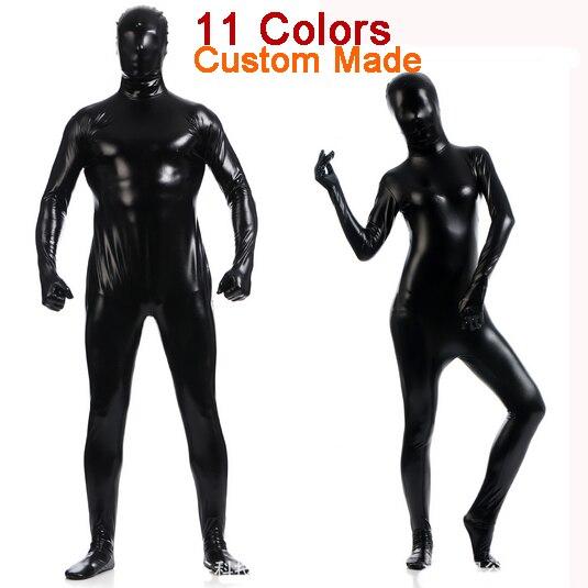 Costom Made Women Men Sexy Black Pink White Vinyl PVC Latex Zentai Suit   Catsuit  Bodysuit Full Body Zentai Costumes Suit 8221e8163a