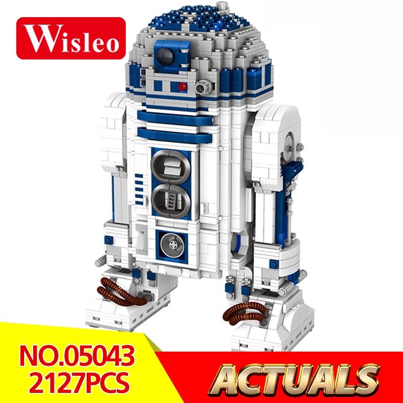 05043 Star Wars Series 2127Pcs The R2D2 Robot Set Out of print D2 Building Blocks Bricks for Children Toys LegoINGlys 10225 футболка классическая printio r2 d2 star wars