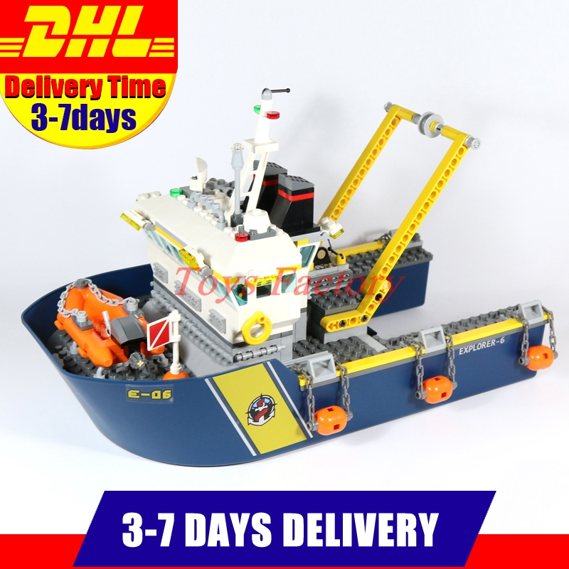 DHL IN-STOCK Clone 60095 LEPIN 02012 774 PCS City Series Deep Sea Exploration Vessel  Set Building Block Bricks Toys Gifts Toys sermoido 02012 774pcs city series deep sea exploration vessel children educational building blocks bricks toys model gift 60095