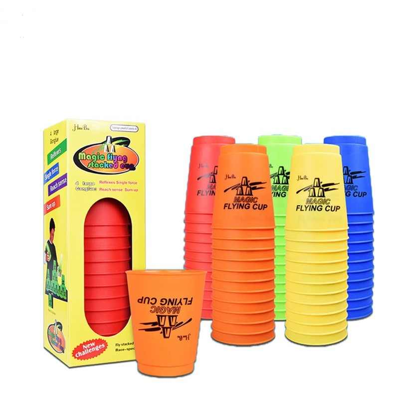 12Pcs/Set Speed Cups With Puzzle Game Hand Speed Training Game Kids Gift Funny Indoor Game Hand Lever Sports Special Stacks Toys