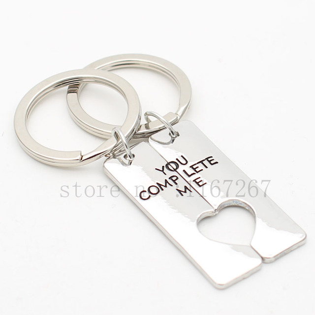 2017 New Couples Gift You Complete Me Keychain Set Anniversary