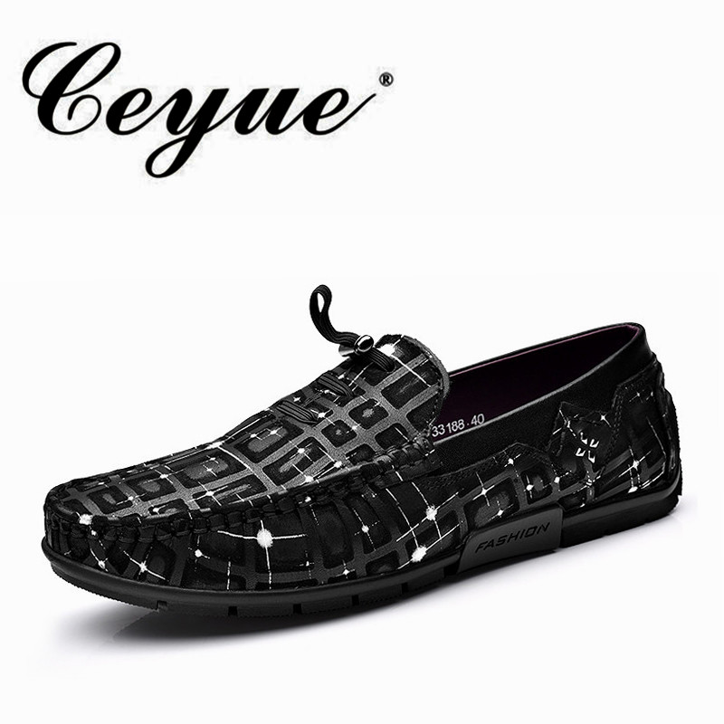 Ceyue New Brand Casual Men Loafers Genuine Leather Driving Moccasins Flat Shoes Men Formal Loafers Shoes For Male Boat Shoes Men bobo bird o01 o02men s quartz watch top luxury brand bamboo wood dress wristwatch with classic folding clasp in wood gift box