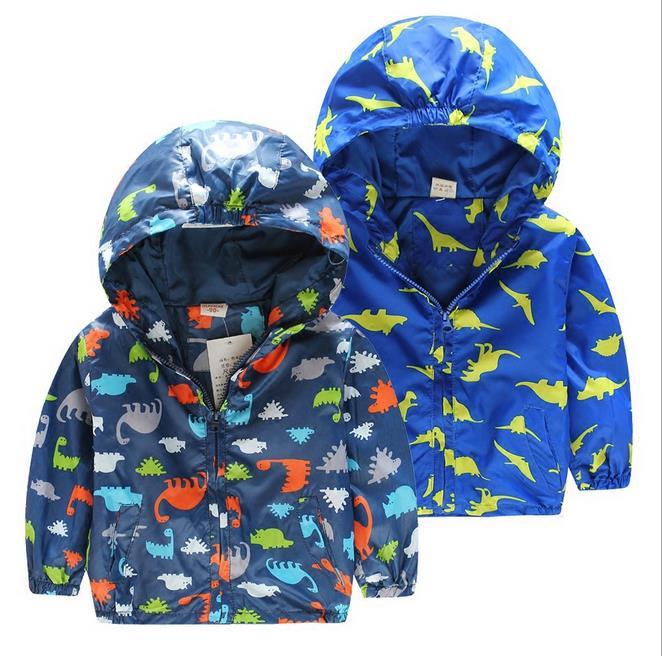 Детская камуфляжная куртка с капюшоном 2018 Новые поступления Весна для мальчиков и девочек верхняя одежда для детей ветровка с длинными рук...