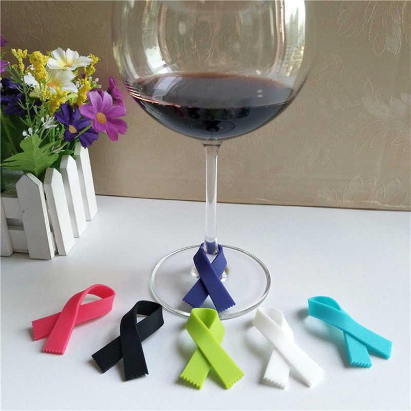 6 шт./компл. тип шарфа силиконовая стеклянная бутылка логотип распознаватель чай вино этикетка кружка метка на чашку вина стеклянные украшения