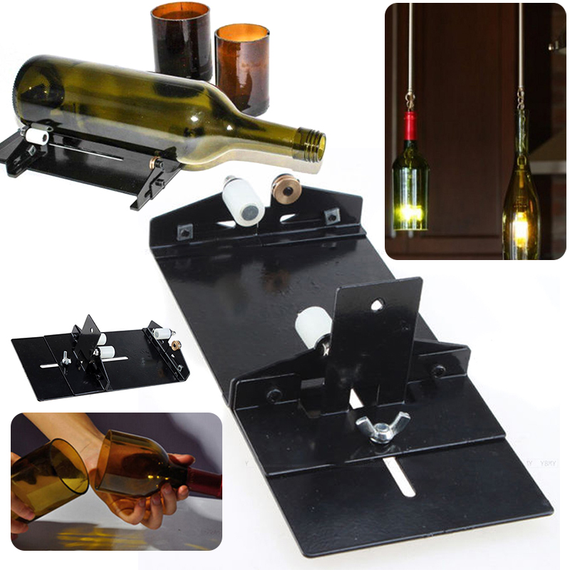 Stainless Steel Bottles Cutter DIY Tools Glass Wine Beer Cutter Machine for Construction Tool Mayitr new arrival ssttd2 heavy duty stainless cable tie fastening cutter tool stainless steel strap clamp machine baler tools hot sale