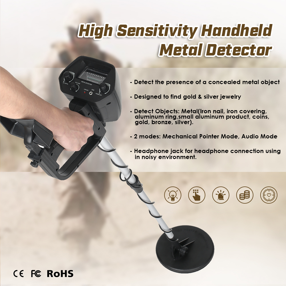 MD-4030 Professtional Underground Metal Detector Adjustable Gold Detectors Treasure Hunter Tracker <font><b>Seeker</b></font> Metal Circuit Detector