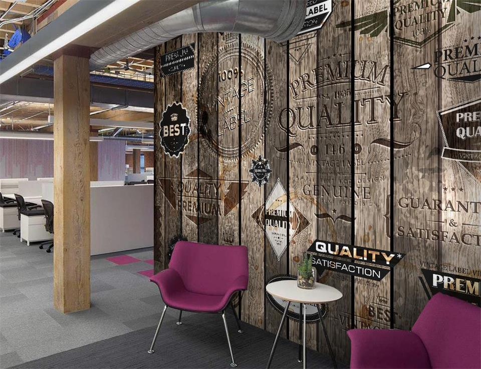 Custom 3d photo wallpaper livingroom mural LOFT retro wood to do the old graffiti flag backdrop photo non-woven photo wallpaper custom sketchbook a4 draw this graffiti notebook personalized custom printed image logo photo on the cover