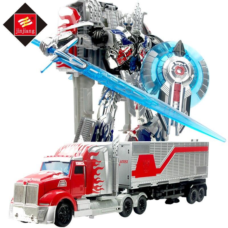 Big Size 46 cm Lunghezza Trasformazione Deformazione Robot Container Truck Toy Action Figures Toys con la scatola originale 8822AB