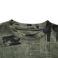 женская повседневная замшевая рубашка женская осенняя футболка с длинным рукавом модная женская уличная футболка с газетным принтом женские футболки talever