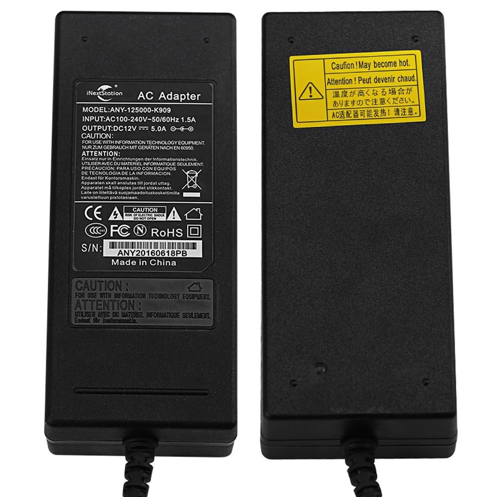 Adaptadores Ac/dc artigo 12 v 5a 5000ma Interface de Saída : 5.5mm * 2.1mm