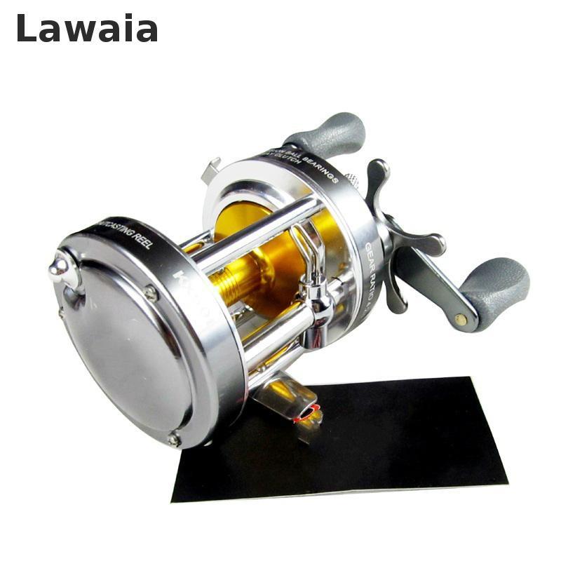 LAWAIA Fishing Reel Bait Casting Reel 4+1bb 4.2:1 Sliver Left Handed All Metal Cast Drum Wheel Waterproof Stainless Molinete Jig цена