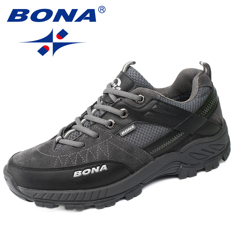 BONA New Classics Style Men Hiking Shoes Outdoor Walking Trekking Men Sneakers Antiskid Climbing Men Shoes Fast Free Shipping humtto new hiking shoes men outdoor mountain climbing trekking shoes fur strong grip rubber sole male sneakers plus size