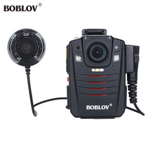 BOBLOV HD66-07 10m IR Night Vision Video Camera Pocket 32GB Ambarella A7 Chip Wearable Body Camera Police With External IR Lens